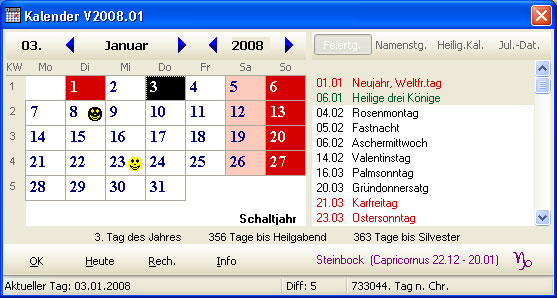 Screenshot für Der ewige Kalender
